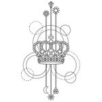 """Переводная татуировка """"Корона"""""""