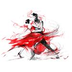 """Переводная татуировка """"Танец"""""""