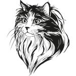 """Переводная татуировка """"Морда кошки"""""""