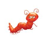 """Переводная татуировка для детей """"Красная гусеничка"""""""