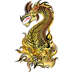 """Переводная татуировка """"Дракон в пламени"""""""