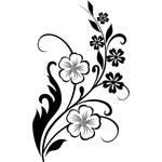 """Переводная тату """"Цветы"""""""