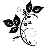 """Переводная татуировка """"Веточка с листьями"""""""