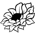 """Переводная татуировка """"Цветок"""""""