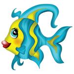"""Переводная татуировка для детей """"Цветная рыбка"""""""