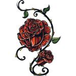 """Переводная татуировка """"Две красные розы"""""""