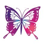 """Переводная татуировка """"Фиолетовая бабочка"""""""