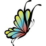 """Переводная татуировка """"Цветная бабочка"""""""