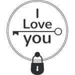 """Переводная татуировка """"I love you"""""""