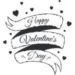 "Переводная татуировка ""Happy Valentine's day"""