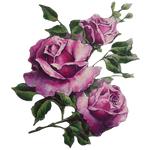"""Переводная татуировка """"Фиолетовые розы"""""""