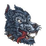 """Переводная татуировка """"Оскал волка"""""""
