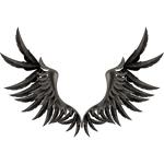"""Переводная татуировка """"Крылья ворона"""""""