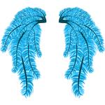 """Переводная татуировка """"Крылья из синих перьев"""""""