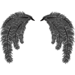"""Переводная татуировка """"Крылья из серых перьев"""""""