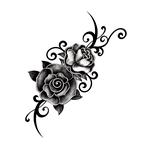 Розы с узором