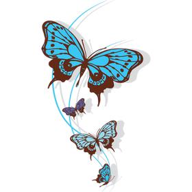 """Переводная татуировка """"Голубые бабочки"""""""