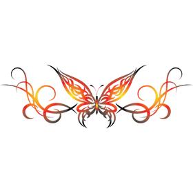 """Переводная татуировка """"Огненная бабочка"""""""