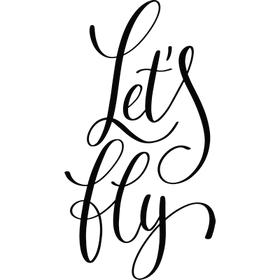 """Переводная татуировка """"Let's fly"""""""