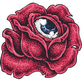 """Переводная татуировка """"Роза с глазом"""""""