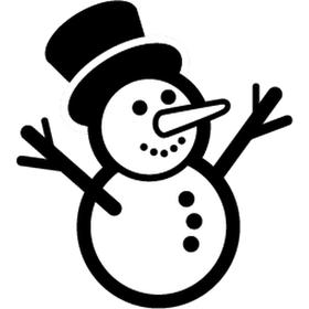 """Переводная татуировка """"Снеговик"""""""