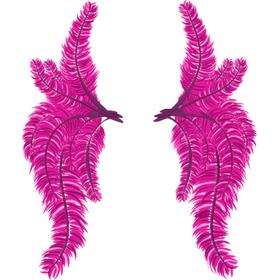 """Переводная татуировка """"Крылья из розовых перьев"""""""