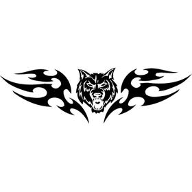 """Переводная татуировка """"Голова волка"""""""